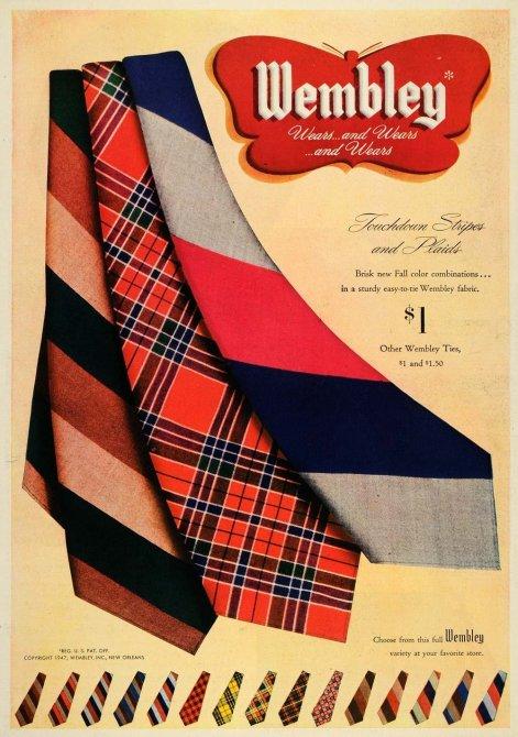 1947 Wembley Tie Ad