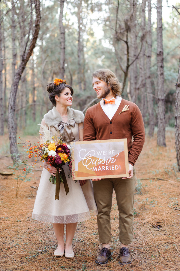 Ruffled - photo by Sarah and Ben Photography http://ruffledblog.com/fantastic-mr-fox-wedding-inspiration