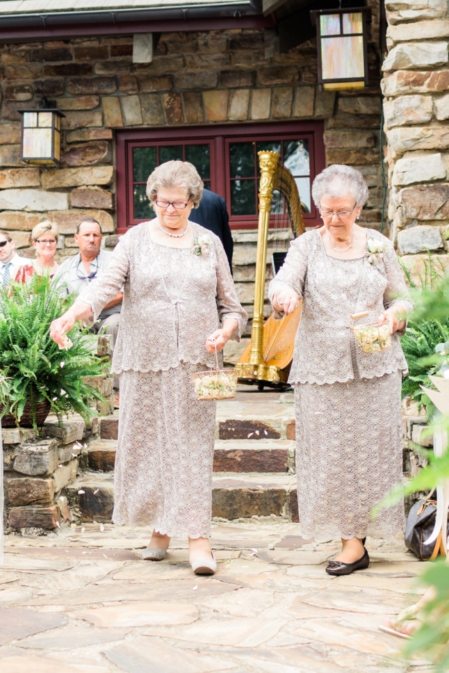 Invite your grandmas to be your flower girls